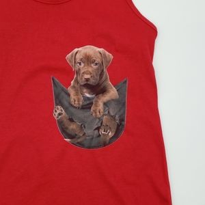 Next Level Apparel Tops - NWOT Racerback Tank Top with Puppy Print